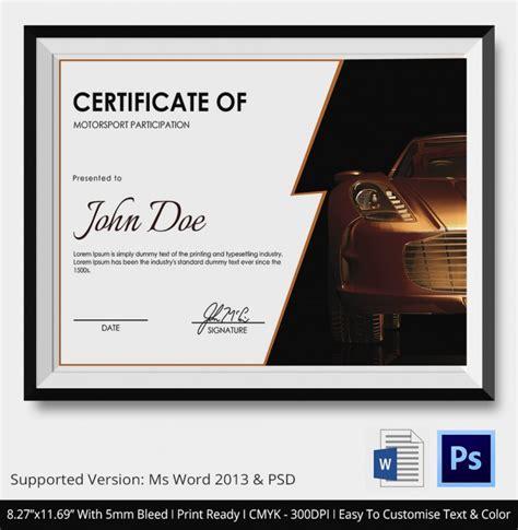 motosport templates 5 motosport certificates psd word designs design