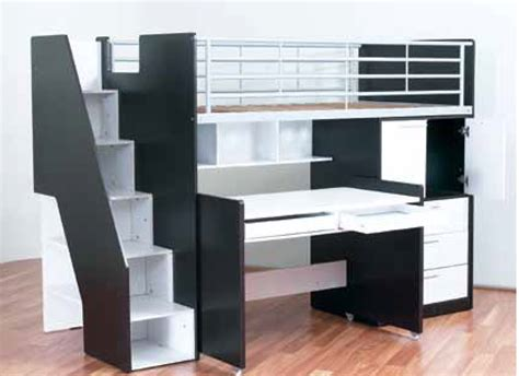 Bunk Beds With Storage And Desk Evan Single Bunk Bed With Desk And Storage Bambino Home