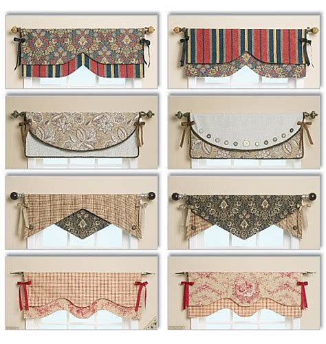 Valance Patterns butterick 5582 reversible window valance sewing pattern