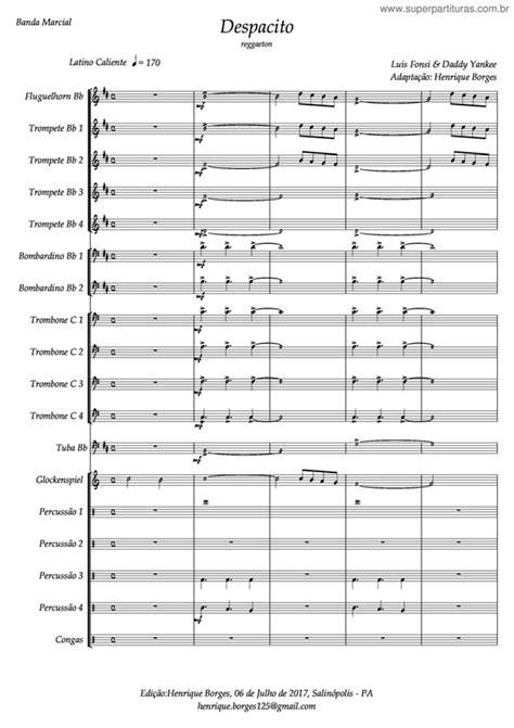 despacito harpa super partituras despacito v 2 daddy yankee luis fonsi