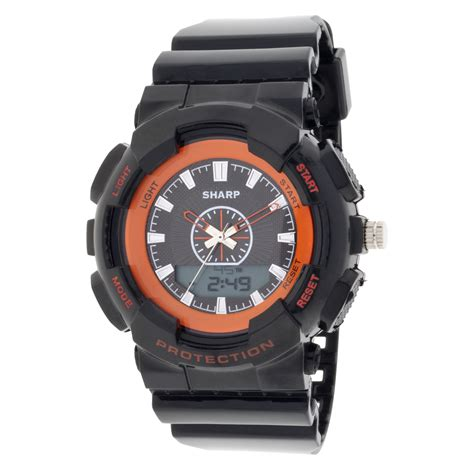 sharp analog black jewelry watches s