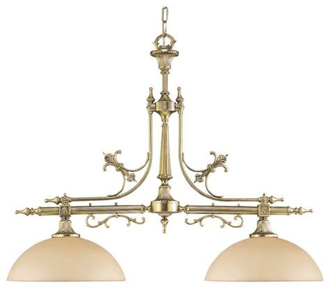 Traditional Island Lighting 2 Light Solid Cast Brass Island Billiard Fixture Traditional Kitchen Island Lighting By