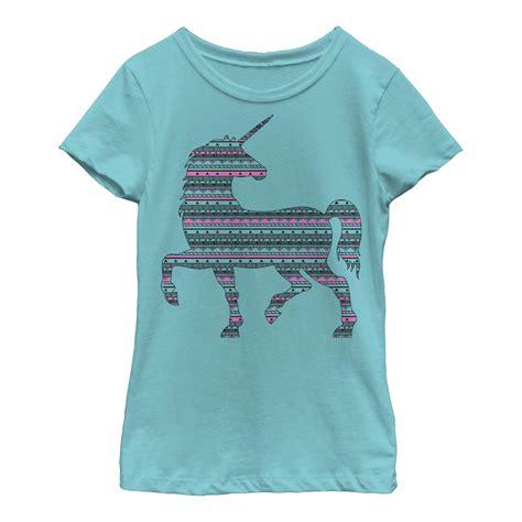 unicorn pattern shirt lost gods unicorn geometric pattern girls graphic t shirt