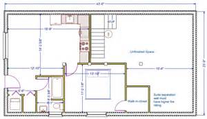Basement Floor Plans 1056 Sqft 24 X44 B New
