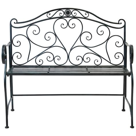 wrought iron garden bench seat bentley garden 2 seater wrought iron bench metal outdoor