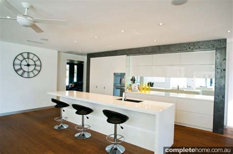 Modern L Shaped Kitchen With Island private escape completehome