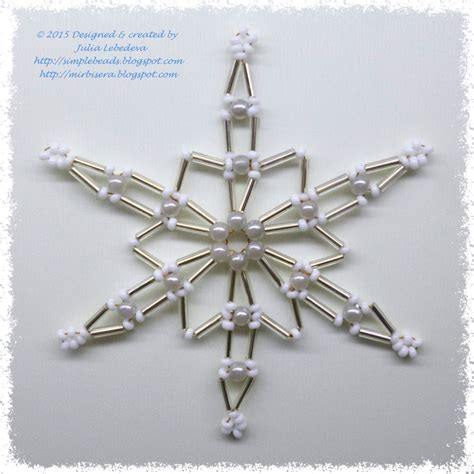 beaded snowflake patterns free beading for the beginners snowflake of bugle