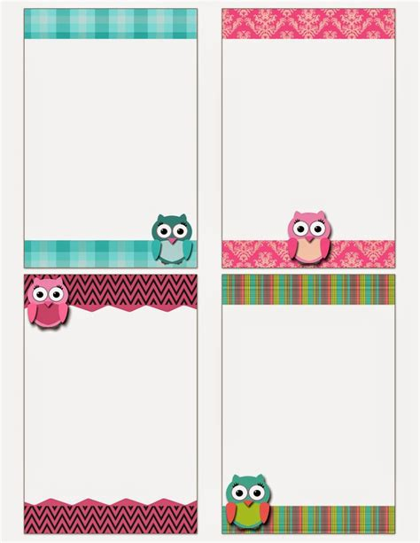 printable owl card free printable owl notecards crafts pinterest free
