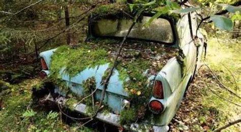 casa dei giochi di pekka abbandon 242 la sua prima auto nel bosco la ritrova dopo 40