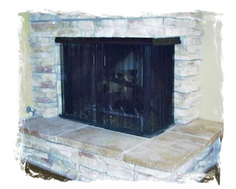Hanging Fireplace Screen by Hanging Screen 3 Northshore Fireplacenorthshore Fireplace
