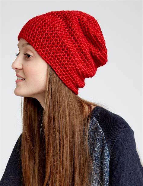 beanie knit hat pattern free slouchy beanie pattern intended for beginners and it