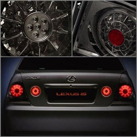 lexus is300 tail lights lexus is300 2001 2005 black halo projector headlights and