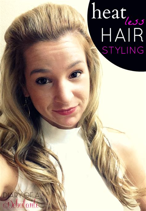 heatless hairstyles for summer bombshell heatless hairstyle for overworked hair