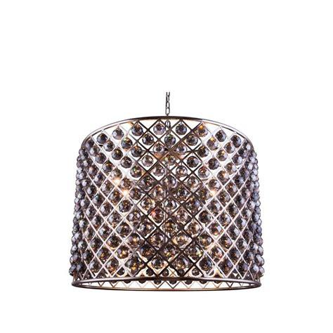 clea 3 light crystal chandelier elegant lighting geneva 6 light polished nickel chandelier