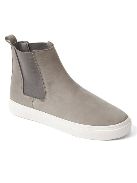 grey chelsea gap chelsea boot sneakers in gray light grey lyst