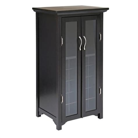 Glass Door Bar Cabinet Winsome 20 Bottle Cabinet W Drs Espresso Wine Rack Ebay