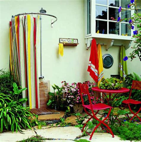 outdoor shower curtains 16 diy outdoor shower ideas a piece of rainbow