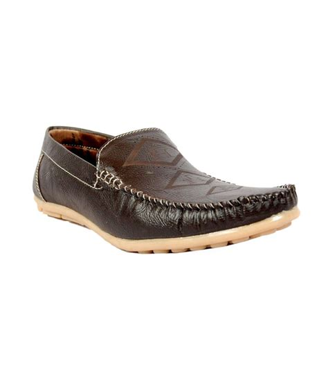 buy shoe mall brown leather casual shoes for