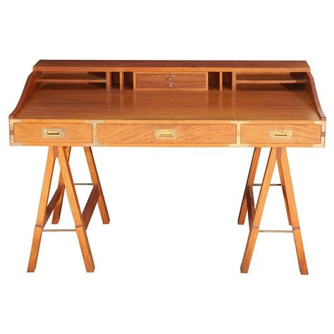 Sawhorse Desk With Drawers by 1960s Caign Sawhorse Desk At 1stdibs