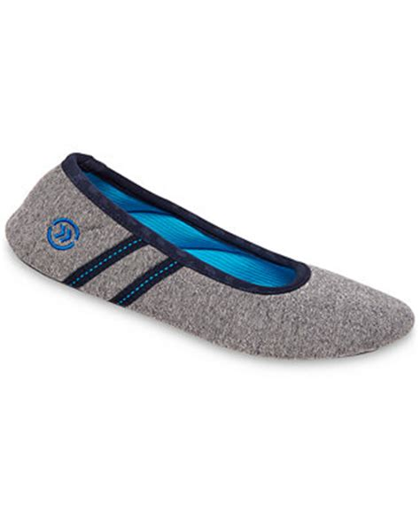 isotoner bedroom slippers isotoner signature active heathered knit ballerina