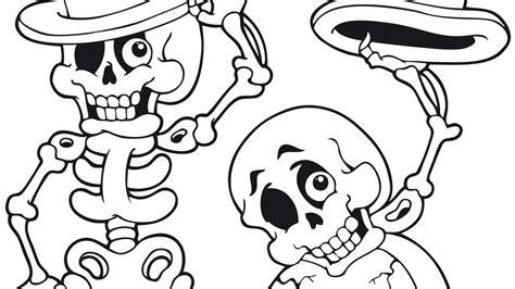 imagenes halloween esqueletos dibujo de halloween con personajes para colorear