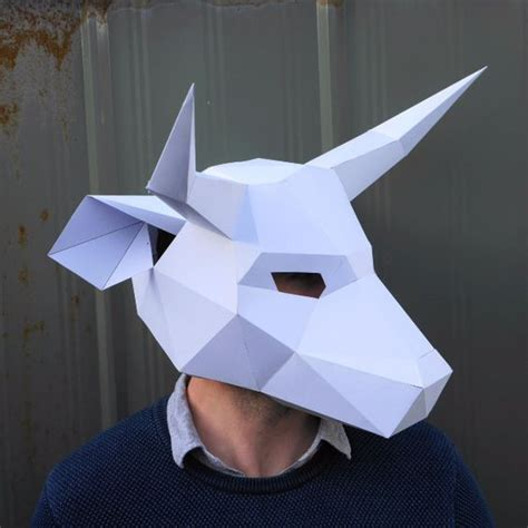 bull mask template bull mask wintercroft 4 visual food illustration