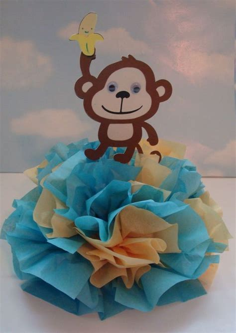 tissue paper centerpieces baby shower jungle baby shower centerpiece babies