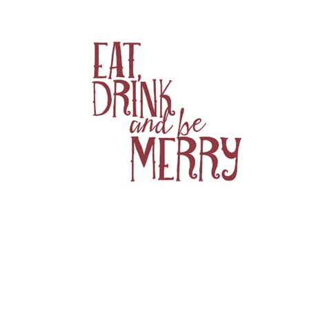 eat drink   merry wall quote decal