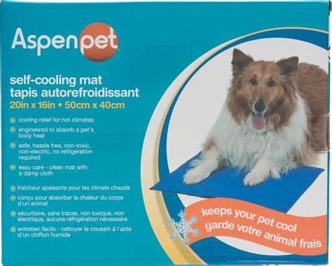 X Mat For Dogs by Aspen Pet Strong Cooling Mat For Dogs Cats Blue 20 X