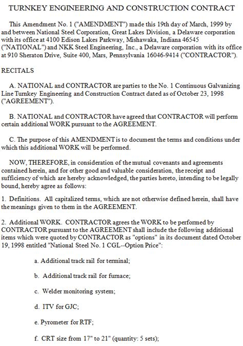 engineering services contract template turnkey engineering and construction contract sle