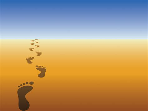 Foot Steps Powerpoint Templates Blue Holidays Yellow Free Ppt Backgrounds And Templates Free Powerpoint Templates Backgrounds