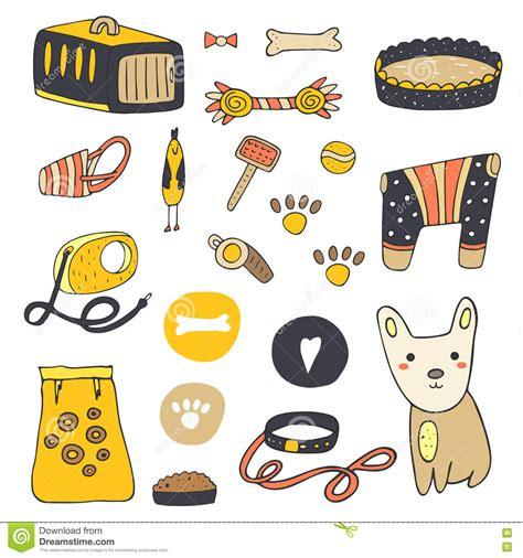 food doodle brush doodle stuff stock vector