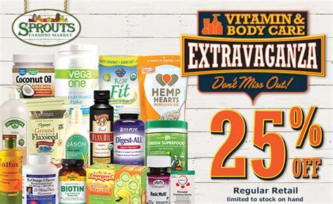 Sprouts Gift Card Sale - sprouts 25 off vitamin body care extravaganza enter to win a 25 gift card