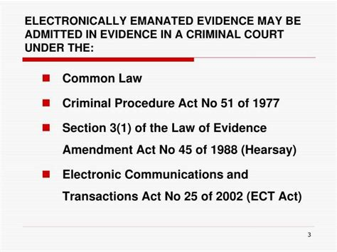 criminal law section ppt the admissibility of electronically generated