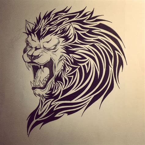tribal lion tattoo designs lion tribal tattoo by