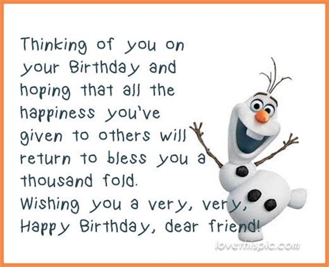 And The City Happy Birthday Quotes Olaf Happy Birthday Quote Pictures Photos And Images For