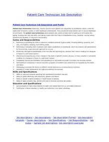 Patient Care Letter Patient Care Technician Description For Resume Best Business Template