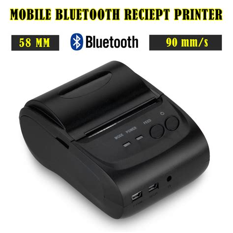 android phone printer new 58mm thermal dot receipt printer bluetooth wireless for android phone tablet ebay
