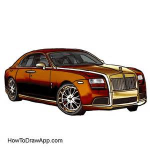 Rolls Royce Drawing How To Draw A Rolls Royce Step By Step A Photo Lesson