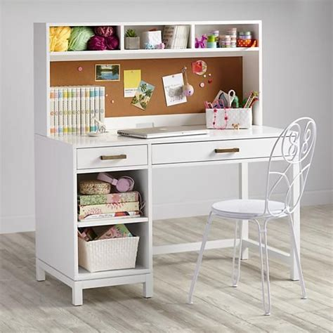 Kid Desk With Hutch Cargo Desk Hutch White Kid Be Ready And Places
