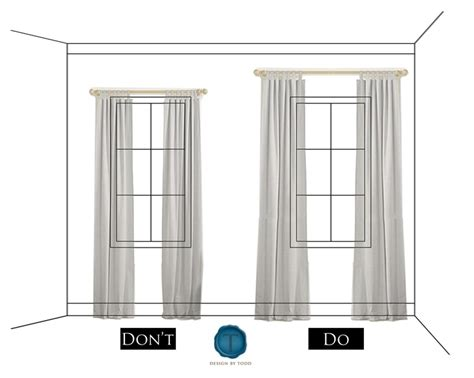 Properly Hanging Curtains How To Hang Drapery Amp Properly Dress Windows Designs By Katy