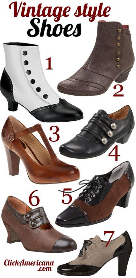 vintage retro style shoes period dress