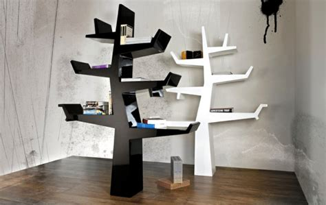 contemporary bookcase with original design resembles a