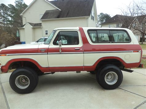 white bronco 1978 ford bronco lifted clean no reserve red and white