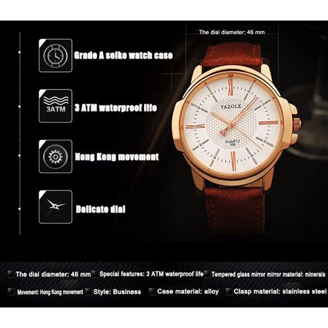Jam Tangan Dw Brown 1 yazole jam tangan analog 358 black brown jakartanotebook