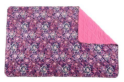 Quilted Bed Blankets Vera Bradley Quilted Fleece Blanket Ebay