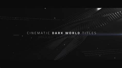 Cinematic Titles Dark World Abstract After Effects Templates F5 Design Com Cinematic Title After Effects Template