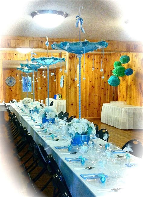 What Is Table Shower by Baby Shower Table With Umbrella Centerpieces