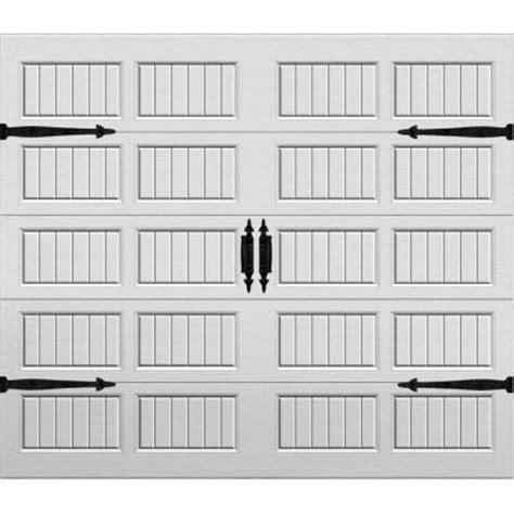 Garage Door Panels Home Depot Martin Garage Doors Select Collection Signature 8 Ft X 7 Ft Grooved Panel White Mist Steel