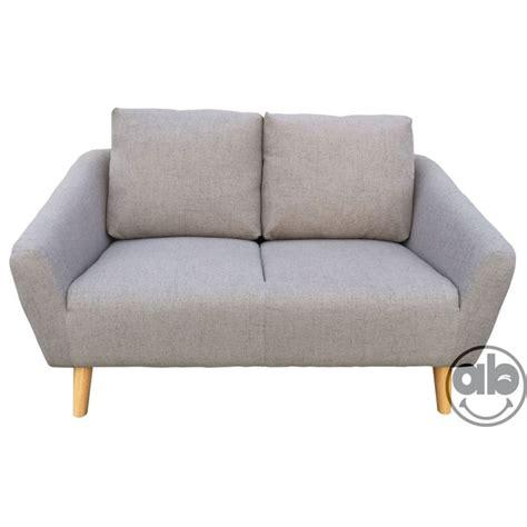 divani grigio divano divanetto a 2 posti sofa in tessuto grigio